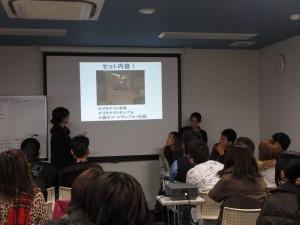 那覇店目標設定シート成功事例発表を(左から)山城さん・與那城さん・比嘉さん