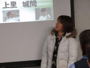 北谷店の環境整備委員会の発表の富村さん