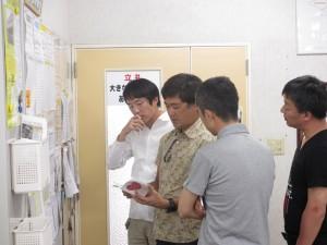 弊社の取り組みを説明する代表の中村